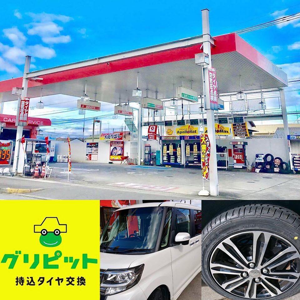 松阪市、持ち込みタイヤ交換 出光 松阪山室SS ダイハツ タント 165/55R15 4本6000円