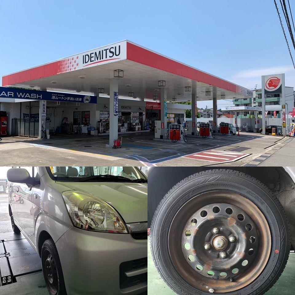タイヤ持ち込み交換 スバル ステラ 155/65R14 4本5000円ご来店いただきました。