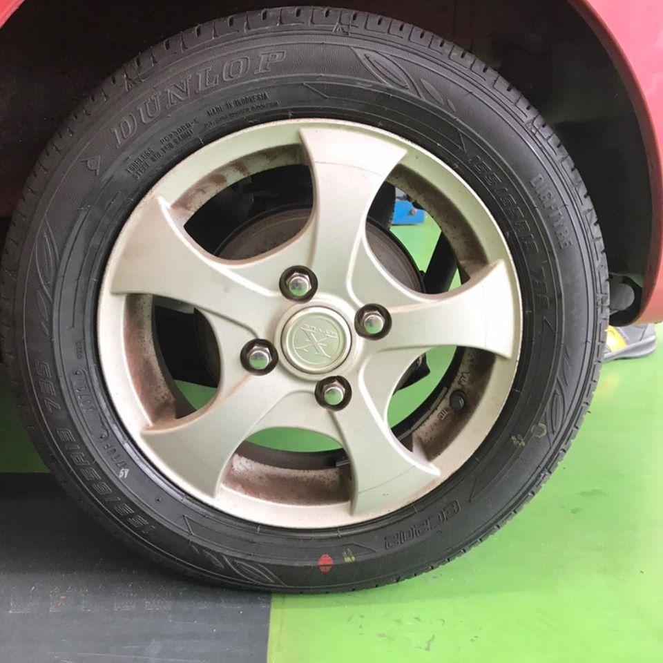 【話題の節約術】タイヤ持ち込み交換 シェル セルフニューハートSS  日産   モコ  155/65R13 4本5000円