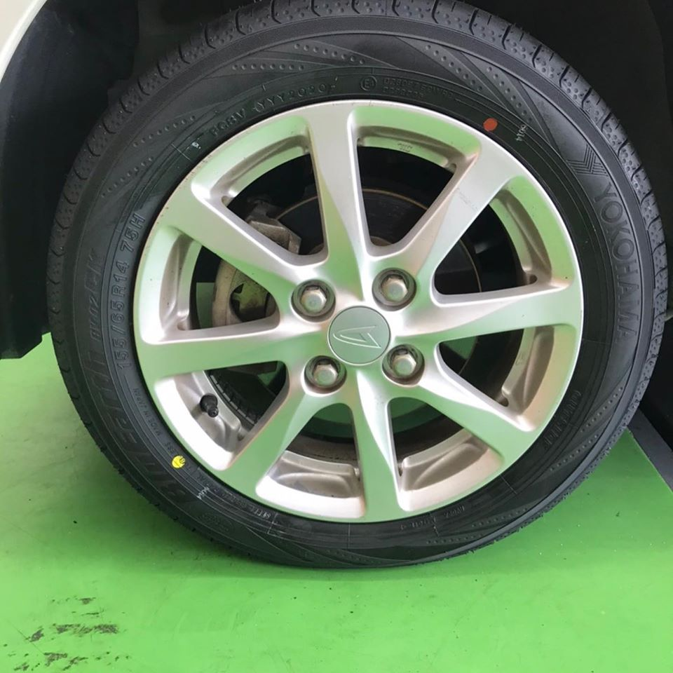 【話題の節約術】タイヤ持ち込み交換 シェル セルフニューハートSS  ダイハツ  ムーブ 155/65R14 4本5000円