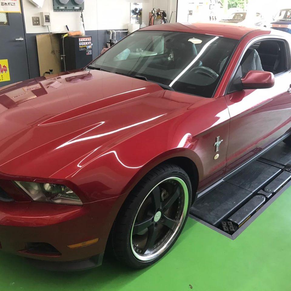 【話題の節約術】タイヤ持ち込み交換 シェル セルフニューハートSS  フォード  マスタング  255/35R20 4本11000円