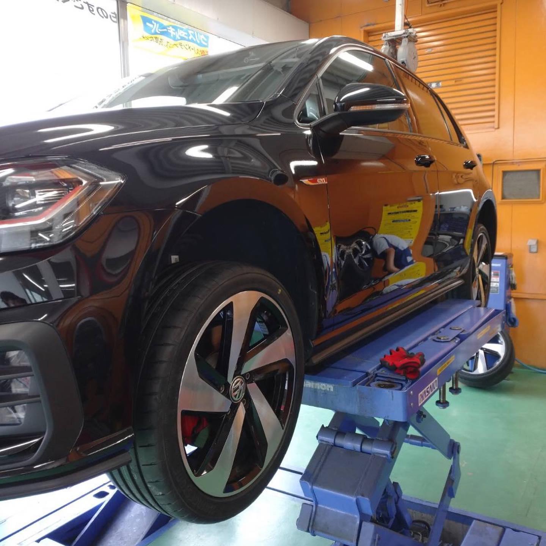 【三重県鈴鹿市】タイヤ持ち込み交換 出光 プリテール鈴鹿店 VW  ゴルフ 225/40R18 4本7000円