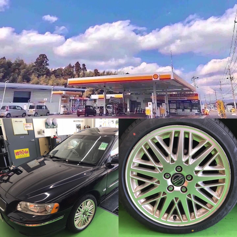【話題の節約術】タイヤ持ち込み交換 シェル セルフニューハートSS ボルボ  V70 215/45R17 4本7000円