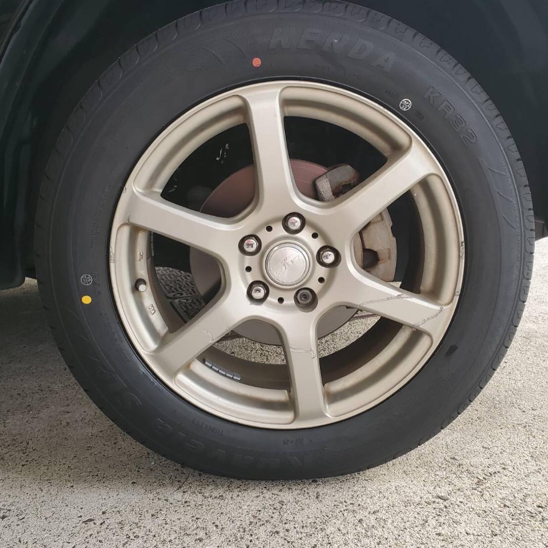タイヤ持ち込み交換 シェル 桑名店  日産  エクストレイル 225/65R17 4本7000円