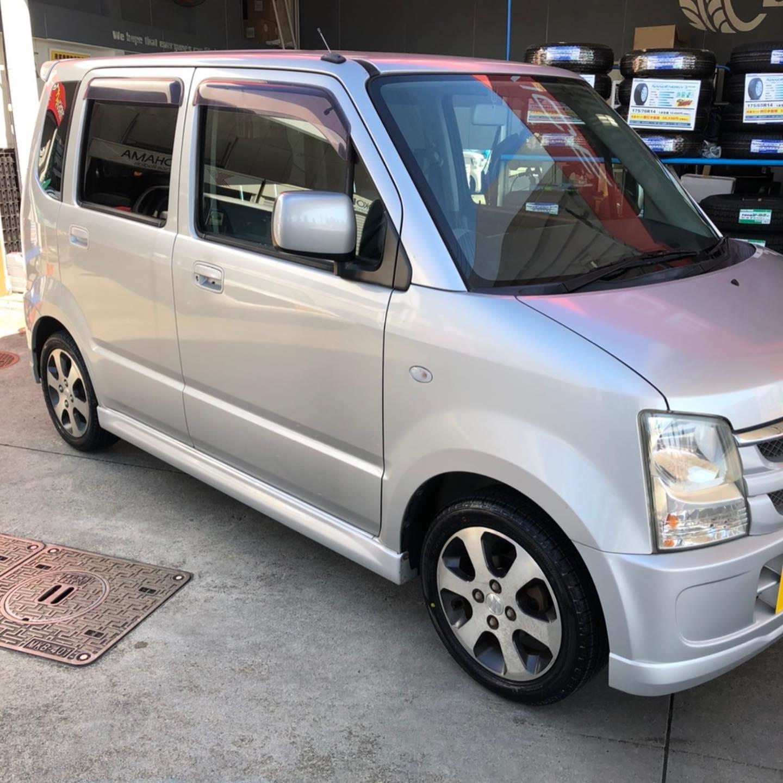 愛知県名古屋市、タイヤ持ち込み交換 出光 セリエ五反田SS  スズキ  ワゴンR  165/55R14 4本5000円