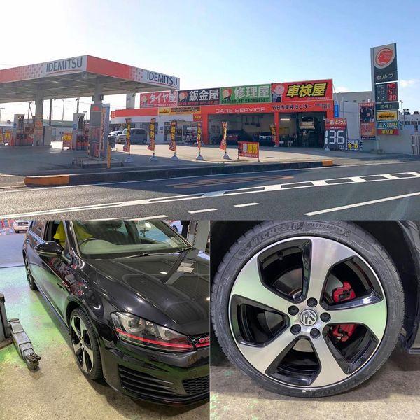 【話題!タイヤ持込交換】三重県四日市市、出光 セルフ四日市新正店 VW  GTI  225/ 45R18 4本7000円
