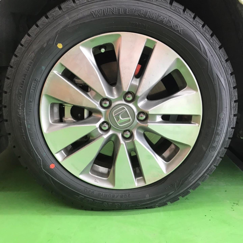 【話題の節約術】タイヤ持ち込み交換 シェル セルフニューハートSS  ホンダ  ステップワゴン 205/60R16 4本 6600円