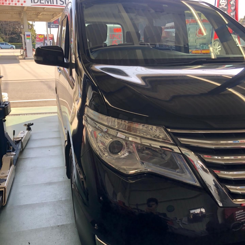 三重郡、タイヤ持ち込み交換 出光 ミルクロード店 日産  セレナ 195/60R16 4本6600円