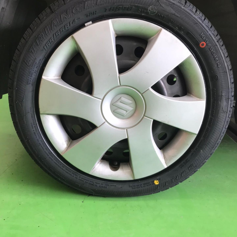 【話題の節約術】タイヤ持ち込み交換 シェル セルフニューハートSS  スズキ  パレット 165/55R14 4本 5500円