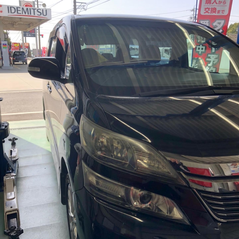 三重郡、タイヤ持ち込み交換 出光 ミルクロード店 トヨタ  ヴェルファイア 235/50R18  4本7700円