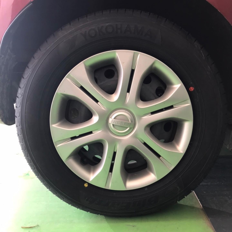 【話題の節約術】タイヤ持ち込み交換 シェル セルフニューハートSS  日産  ノート 185/70R14  4本 5500円